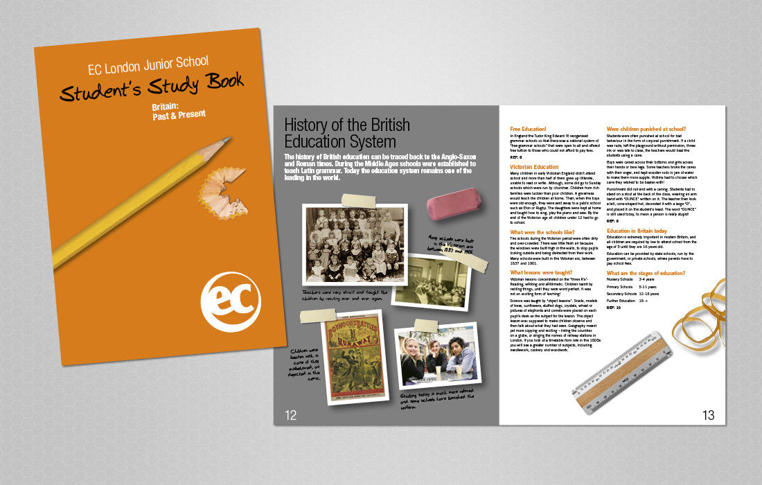 Educational, student workbook for EC London