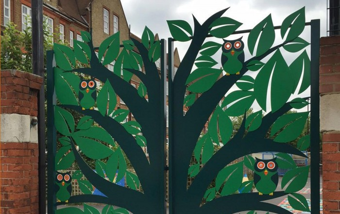 Bespoke School Gates Design for Haseltine Primary School