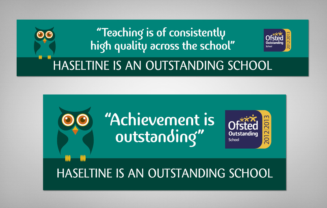 Haseltine is an outstanding School banners by Pylon Design