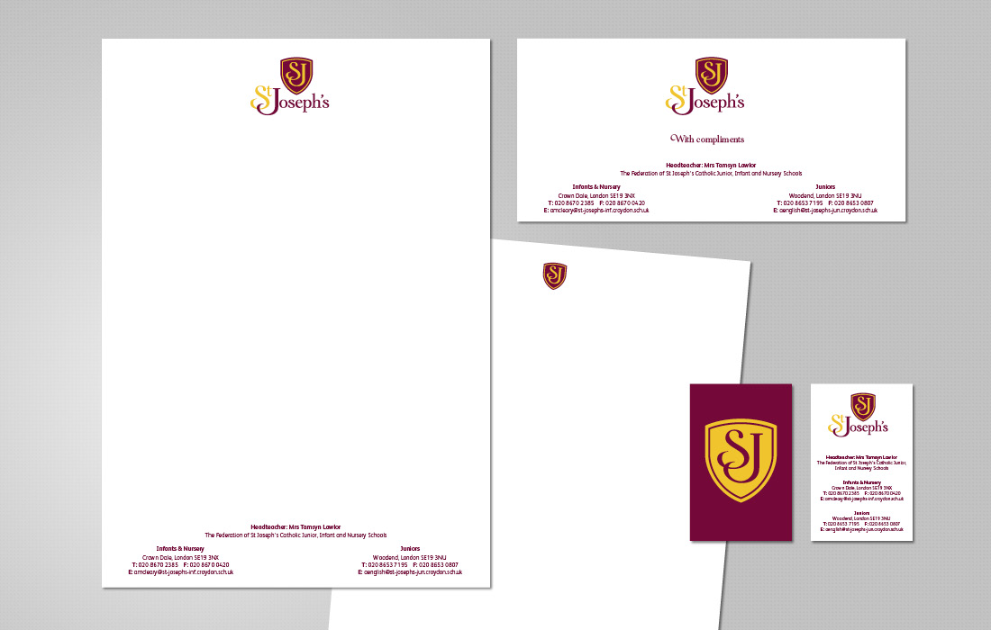 An elegant stationery solution for St Joseph's Federation by Pylon Design