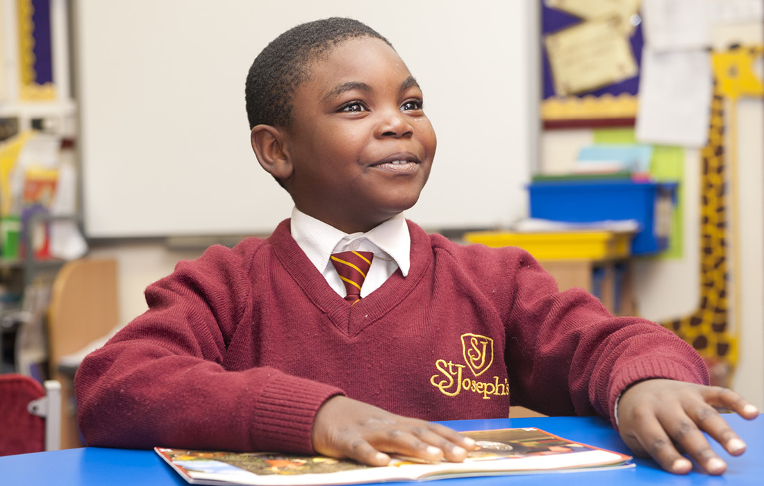 Elegant use of the new St Joseph's logo on the school uniform by Pylon Design