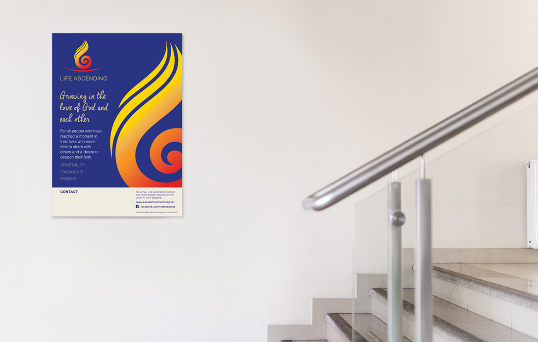 An aspirational poster for Life Ascending by Pylon Design