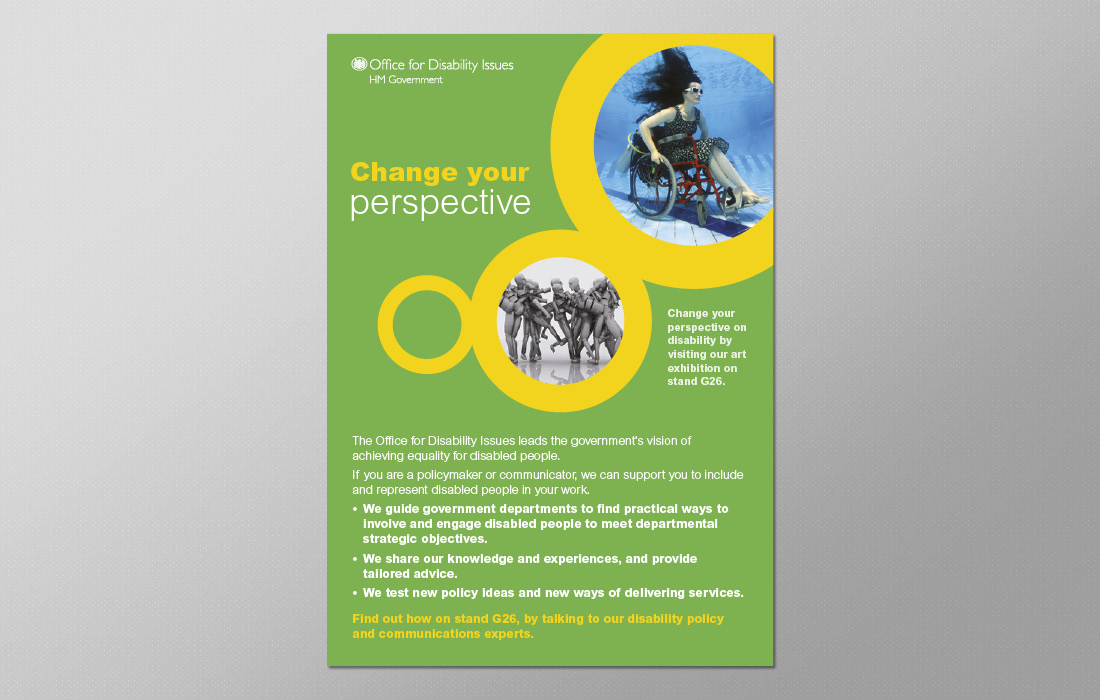 Bold, corporate advert for the ODI by Pylon Design