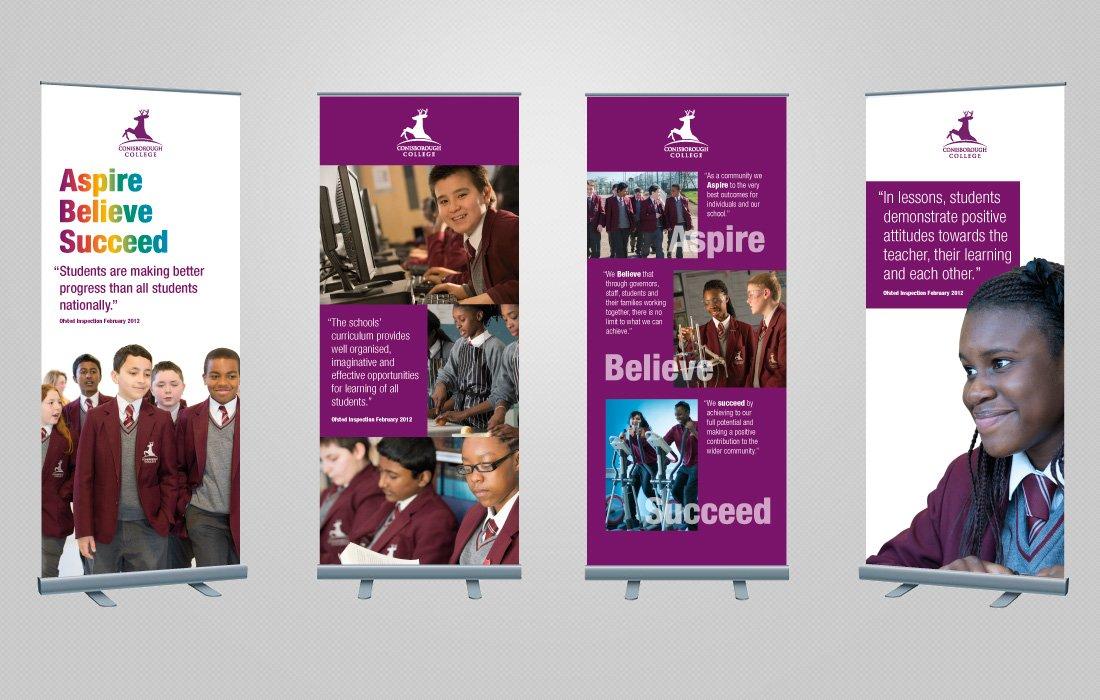 Attractive, corporate banners for Conisborough College by Pylon Design