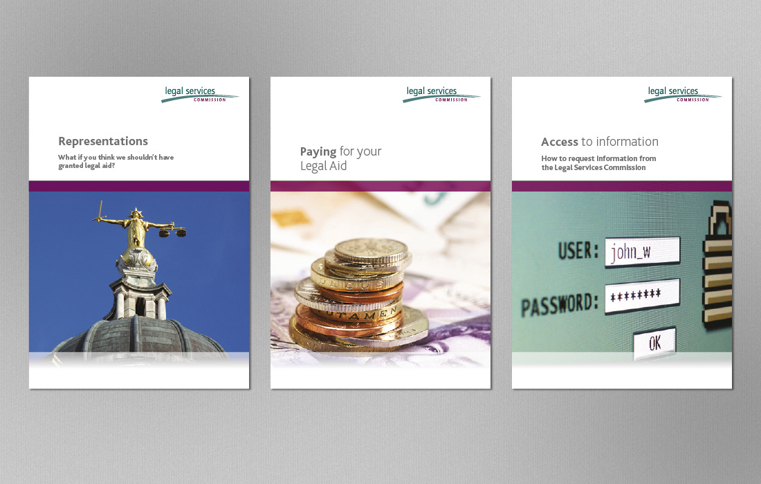 Graphical photography led booklets for the LSC by Pylon Design