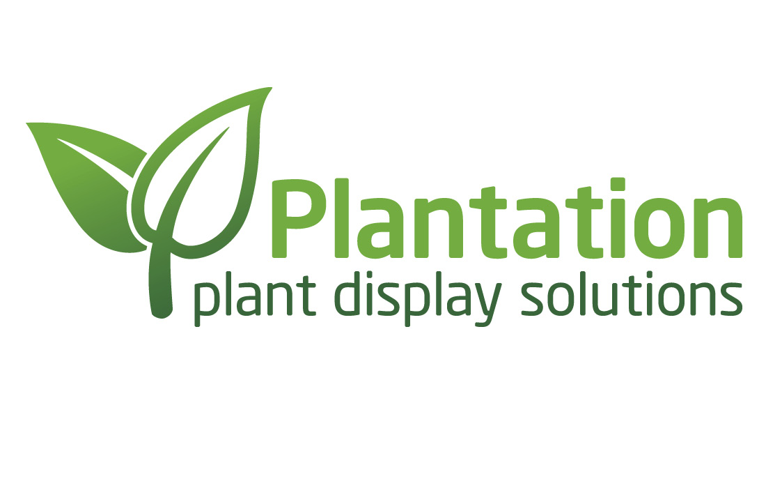 Bold graphic leaves form the Plantation logo by Pylon Design