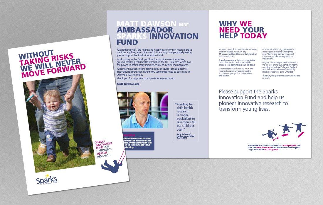 Innovation Fund campaign brochure for Sparks by Pylon Design
