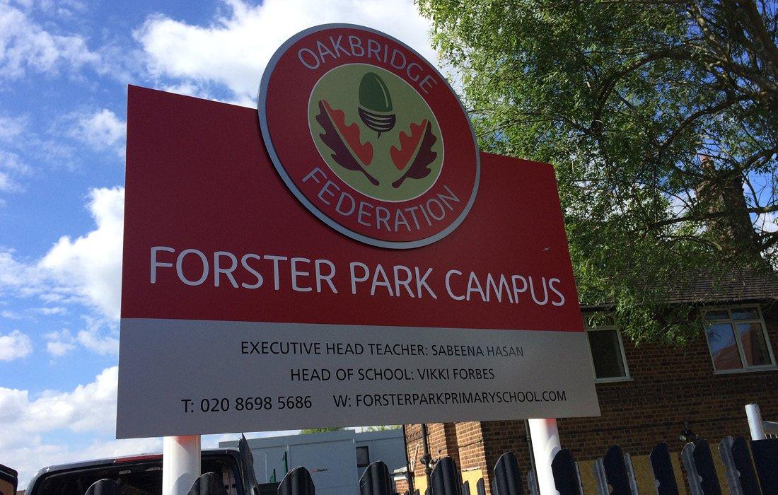 Striking 3D signage for Forster Park Primary School