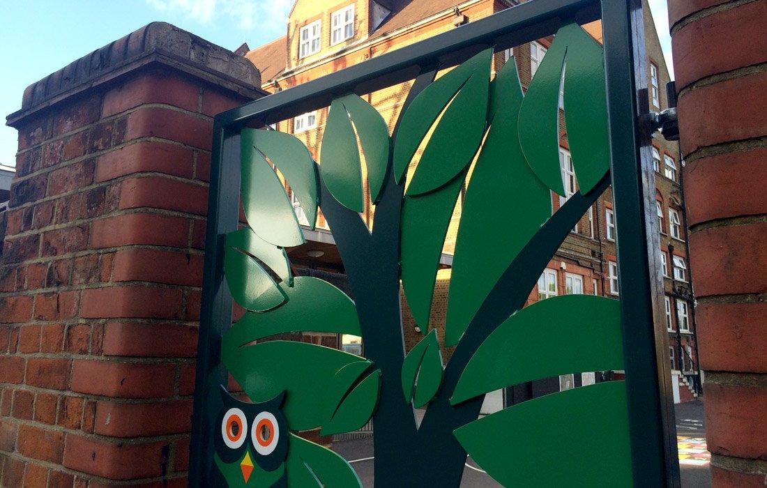 Bespoke School Gates Design for Haseltine Primary School