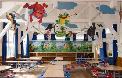 Jungle themed soundproofing at Rangefield Primary School by Pylon Design