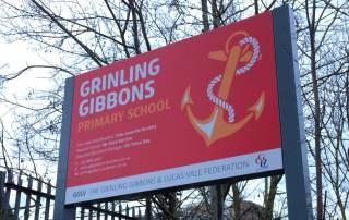 Exterior School Signage for Lewisham school