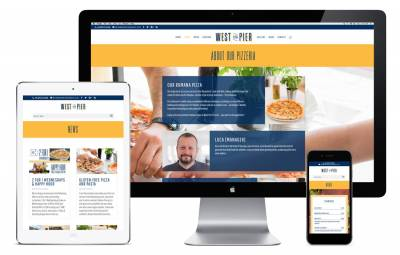 West Pier Pizzeria Website on Apple devices