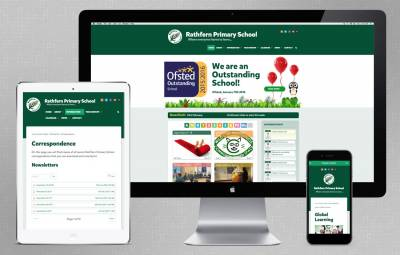 London school web design for Rathfern Primary School