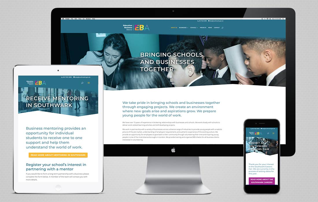 Southwark Education Business Alliance website redevelopment 2019