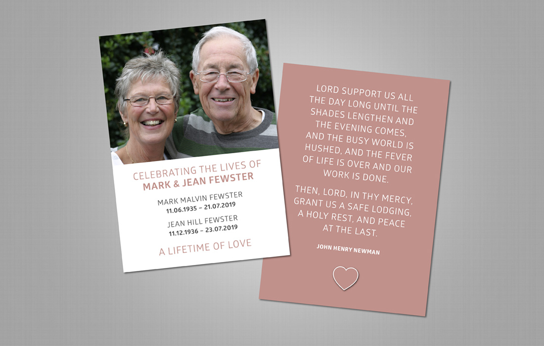 In Loving Memory Funeral Prayer Card