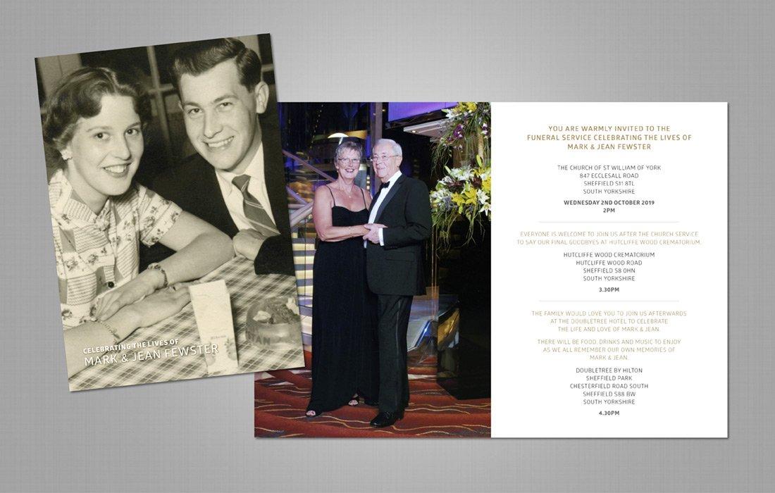 In Loving Memory Funeral Invite